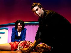 Production images of Heathers: The Musical by Chad Batka. Ryan McCartan as J. & Barrett Wilbert Weed as Veronica Sawyer in Heathers: The Musical Theatre Nerds, Musical Theatre, Veronica Sawyer Musical, Jd And Veronica, Heathers The Musical, Jd Heathers, Heathers Costume, Dear Evan Hansen, Les Miserables