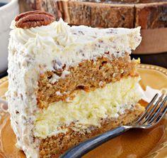 simply recipes: Carrot Cake Cheesecake Cake