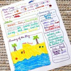 001 Printable summer vacation journal Road trip kids