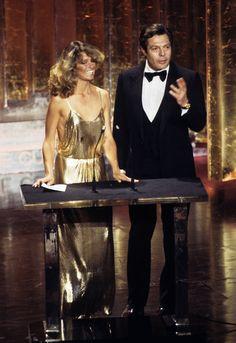 Farrah Fawcett presenting at the 50th Annual Academy Awards on April 3, 1978.