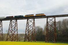 Located east of Bloomfield and west of Solsberry near the community of Tulip, the 2,307 feet long and 157 feet tall steel-girded railroad trestle is one th...
