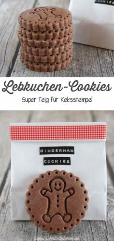 Gingerbread cookies - super dough for biscuit stamp- Lebkuchen-Cookies – Super Teig für Keksstempel Sweet gingerbread cookies Mr. Gingerman – a great dough for biscuit stamps and generally a great recipe also for Cookie Cutters for Christmas Ginger Bread Cookies Recipe, Cookie Recipes, Dessert Recipes, Christmas Cookie Cutters, Christmas Cookies, Biscuit Cookies, Cookie Dough, Best Gingerbread Cookies, White Chocolate Mousse