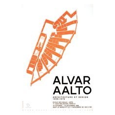 The poster for the Alvar Aalto Architecture et design exhibition shows the floor plan of the Aalto-designed Neue Vahr apartment block in Bremen, Germany, The exhibition commemorated the anniversary of Alvar Aalto's birth. Architecture Design, Chinese Architecture, Modern Architecture House, Futuristic Architecture, Modern Houses, Alvar Aalto, Zaha Hadid Architects, Norman Foster, Santiago Calatrava