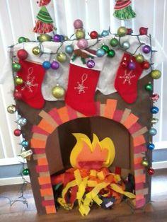 Fireplace craft cardboard
