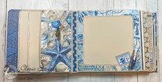 Scraps of Life: Graphic 45 Ocean Blue Mini Album Tutorial Diy Mini Album, Mini Albums Scrap, Mini Album Tutorial, Mini Scrapbook Albums, Handmade Birthday Cards, Handmade Cards, Quilling Designs, Heartfelt Creations, Graphic 45