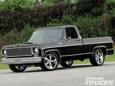 Read more about Kyle Atkins' custom black on black 1977 Chevrolet Silverado here at www.classictrucks.com the official magazine of Classic Trucks Magazine
