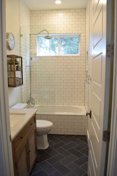 Black and White Subway Tile Bathroom . 30 Amazing Black and White Subway Tile Bathroom . Black and White Tile Bathroom Decorating Ideas New Mid Century Shower Tile, Subway Tiles Bathroom, Bathroom Tub, Subway Tile, Bathrooms Remodel, Cream Bathroom, Tile Bathroom, Small Remodel, White Subway Tile Shower