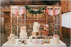 Epic Wedding Cake Display   Feather and Twine Photography