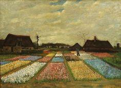 Vincent van Gogh, Blumenfelder in Holland. 1883