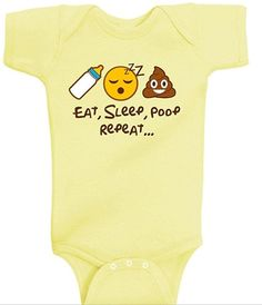 And this onesie that calls out the only emojis you will ever need with a baby.