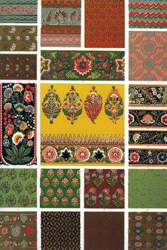 Owen Jones 'Indian ornament' 1856 by Design Decoration Craft Indian Patterns, Textures Patterns, Fabric Patterns, Print Patterns, Motifs Textiles, Textile Prints, Graphic Design Books, Book Design, Motif Oriental