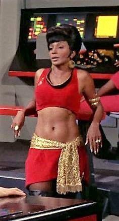 "Nichelle Nichols as Uhura in ""Mirror, Mirror"", for me and other Colored folks, was the reason we watched Star Trek! It was a matter of race pride! Woods, Keeper of Stories Star Trek Cosplay, Star Trek Original Series, Star Trek Series, Star Trek Tv, Star Wars, Jeri Ryan, Star Trek Enterprise, Star Trek Voyager, Science Fiction"