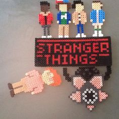 Stranger Things perler beads by emilyannisrad