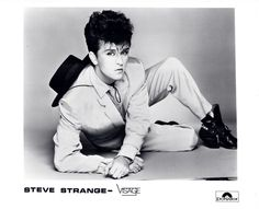 Steve Strange – the epitome of panache.