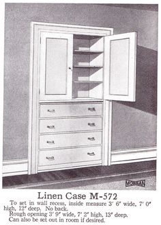 Built-in Wardrobe from a Morgan Millwork catalog (1921)