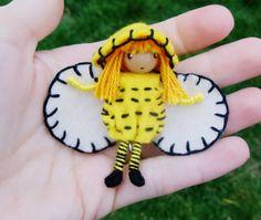 Bumble Bee Waldorf Fairy Bug Felt Bendy Doll  By: A Curious Twirl  https://www.etsy.com/shop/ACuriousTwirl