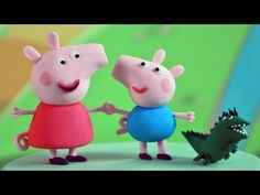 How to Make Peppa Pig, George and Mr Dinosaur out of Fondant - YouTube