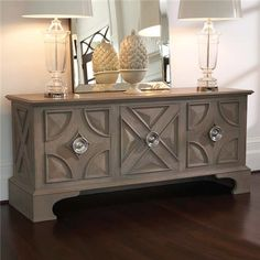 Westmoreland Cabinet by Williamsburg was inspired by an antique blanket chest - available from Zinc Door