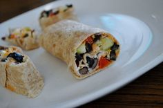 Veggie Hummus Wraps- creamy, cheesy, crunchy, and healthy!