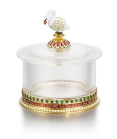 A Fabergé gold, rock crystal and en plein enamel box, workmaster Michael Perchin, Moscow, circa 1890 | Russian Works of Art, Fabergé and Icons | Sotheby's Quartz Rock, The Royal Collection, Crystal Vase, Russian Art, White Beads, Clear Quartz, Winter Christmas, Enamel, Gold