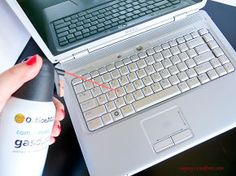 how to deep clean your laptop, cleaning tips, Use to compress air to get rid of dust and crumbs from keyboard