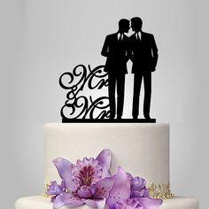 Mr and Mr same sex cake topper, gay wedding cake topper