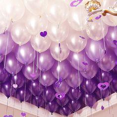 Purple Birthday Decorations, Birthday Balloon Decorations, Birthday Balloons, Wedding Decorations, Bridal Shower Balloons, Wedding Balloons, Purple Balloons, Latex Balloons, Gateau Baby Shower