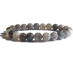 ZENstore Agate Botswana Healing Bracelet 18 cm, Gemstones, Unisex,... ($36) ❤ liked on Polyvore featuring jewelry, bracelets, gem jewelry, gemstone jewelry, tri color jewelry, colorful bangles and multi colored gemstone jewelry