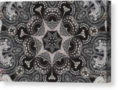 0076 Canvas Print featuring the digital art 0076 by Aileen Griffin