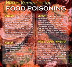Remedy food poisoning