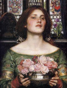 John William Waterhouse: Gather Ye Rosebuds While Ye May (detail) (via freeparking)