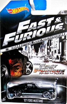 1967 Ford Mustang Hot Wheels 2014 FAST & FURIOUS Movie Car Merchandise #4/8 READ #HotWheels #Ford