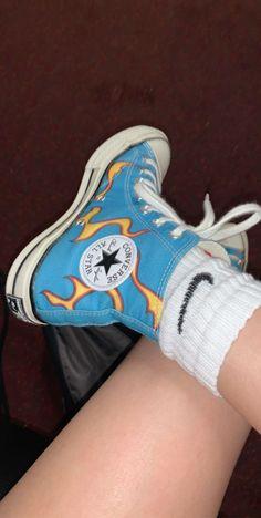 Golf Le Fleur x Converse HI flames Mode Converse, Converse Style, Outfits With Converse, Converse Shoes, Shoes Sneakers, Golf Shoes, Best Sneakers, Casual Sneakers, Sneakers Fashion