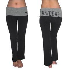 Amazon.com: Pink Victoria's Secret Womens NFL Oakland Raiders Comfortable Casual-wear Lounge pants / Yoga Pants - Black (Size: S): Clothing