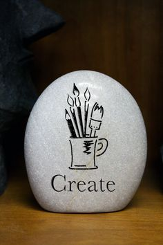 Items similar to Create Stone- Engraved Stone- Custom stone- Musician- Writer- Artist on Etsy