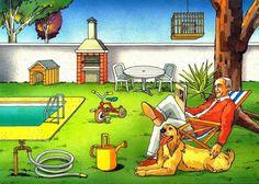 Láminas de diferentes temáticas como la ciudad, el mercado, el parque, el campo, la playa y varias zonas de una casa. Ideales para trabajar...