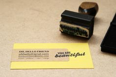 another quick + easy business card diy by Oh Hello Friend!
