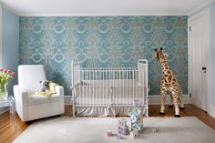 Plush Giraffe in Nursery