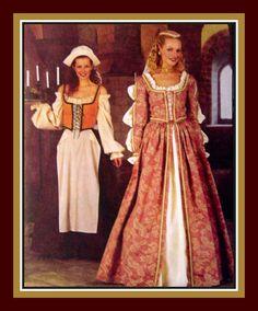 ELIZABETHAN LADIES GOWN Costume Sewing by FarfallaDesignStudio, $16.00