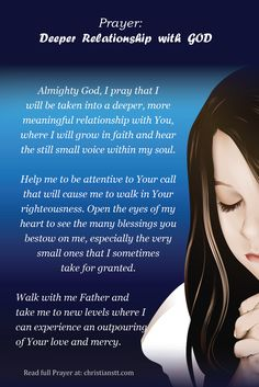Prayer: Deeper relationship with God