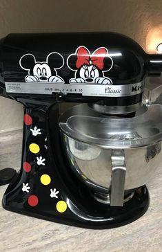Black Kitchenaid Mixer Decal Disney Peeker Mickey Mouse | Etsy Disney Mickey Mouse, Cozinha Do Mickey Mouse, Mickey Mouse House, Deco Disney, Mickey Mouse Kitchen, Minnie Mouse, Disney Kitchen, Birthday Room Surprise, Birthday Cake Gift