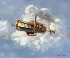 """Airship"" by Jeff Brimley #Steampunk #Airship #steampunkart http://www.pinterest.com/TheHitman14/artwork-steampunked/"