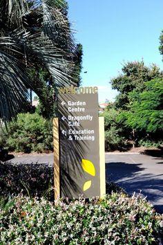 Eden Gardens Carseldine. Welcome / Carpark directional signage
