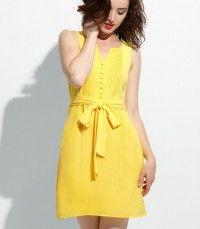 Tulle Canary Camilla Dress