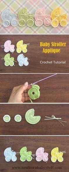 Baby Knitting Patterns Baby Stroller Applique – Crochet Tutorial Baby Knitting Patterns Source : Baby Stroller Applique – Crochet Tutorial... by nnetti1704