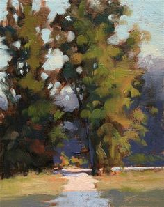"Daily Paintworks - ""Tree Tunnel"" by Barbara Jaenicke."