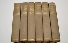 Antique 1909 book set. There are six books, and they are all by John Fox Jr. The tops of the pages are gold gilt. They have green covers with gold accents. The following titles are included: The Trail of Lonesome Pine Crittenden: A Kentucky Story of Love and War Christmas Eve on