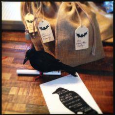 Raven Crow Unique Halloween Invites Invitations Halloween Unique Scary www.tinycakebakery.com