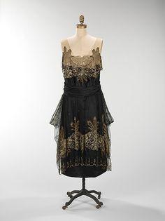 Evening dress Date: 1917–20 Culture: American Medium: silk, metal Accession Number: 2009.300.386