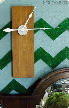 DIY Modern Wood Clock